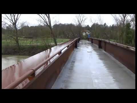 Ponte Buriano, inaugurata la passerella ciclopedonale sul canale maestro della Chiana