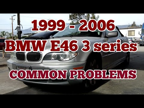 1999 - 2006 BMW E46 3 series common problems 323i 325i 328i 330i M54 engine