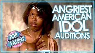 Video ANGRY & RUDEST AUDITIONS ON AMERICAN IDOL! MP3, 3GP, MP4, WEBM, AVI, FLV Januari 2019