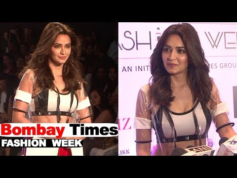 Kriti Kharbanda Showstopper For Designer Sumiksha Goenka Myriad At Bombay Times Fashion Week 2018