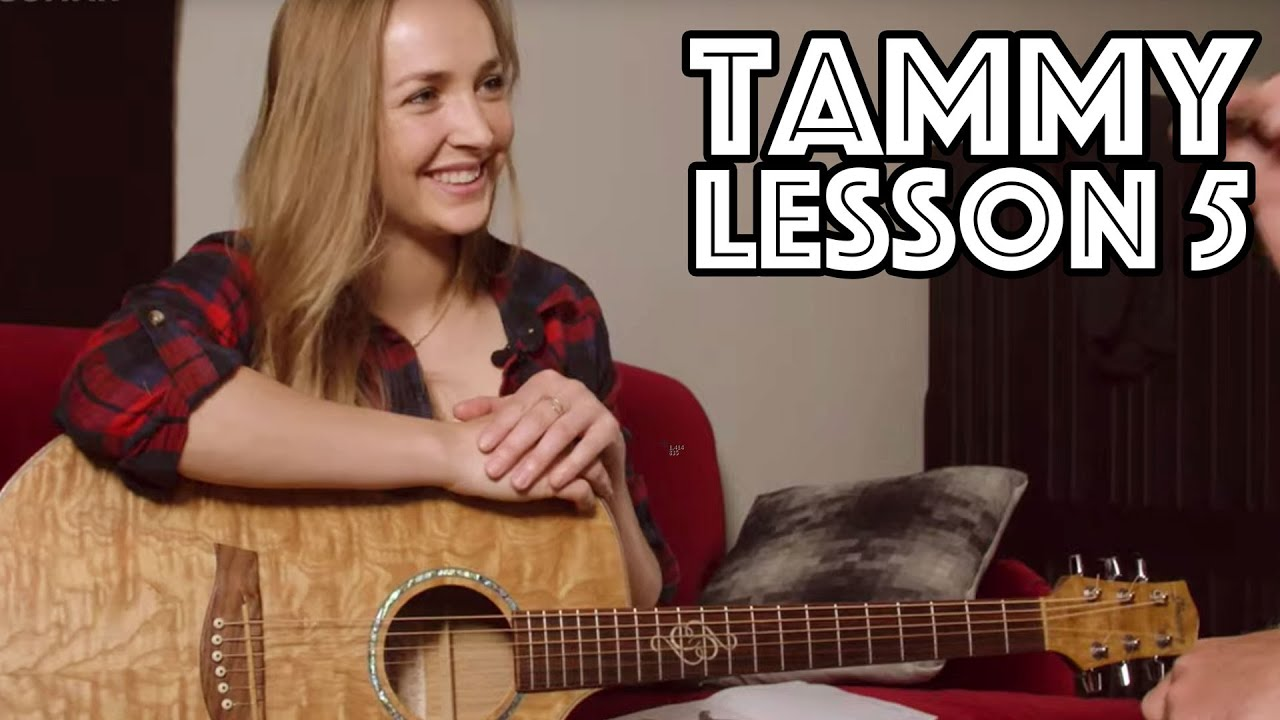 Tammy Guitar Lesson 5: Songwriter Chords, Backbeat Hit In Strumming, Scales and more…