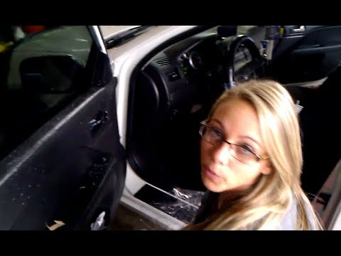 Window tinting, training how to tint a car back window in 1 piece, 216-475-9999 part 1