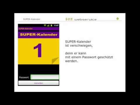 Video of SUPER-Kalender