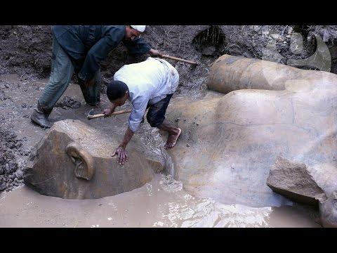 Как выглядит найденная в Египте гигантская статуя Рамзеса