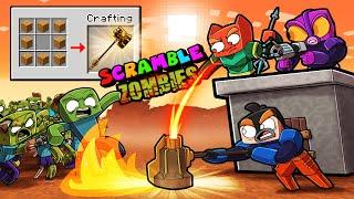 Scramble Craft ZOMBIE BASE DEFENSE! (Minecraft)