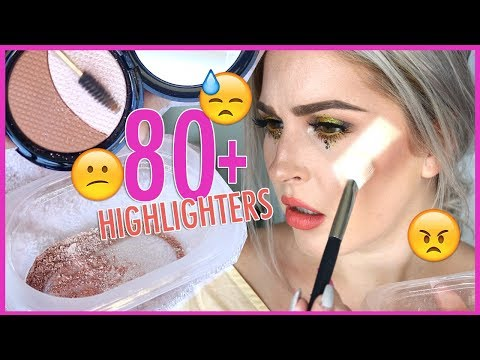 MIXING 90+ HIGHLIGHTERS TOGETHER 😐✨🤯 Underwhelmed... (видео)