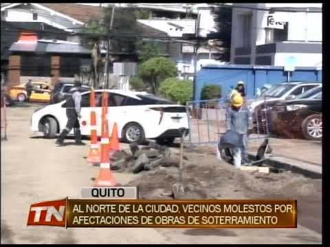 Al Norte de la ciudad, vecinos molestos por afectaciones de obras de soterramiento