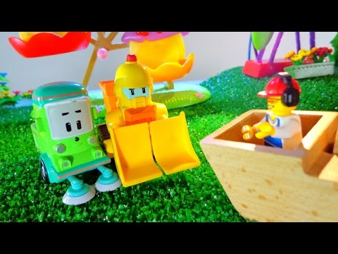 Робокар Поли и Машинки: Приключение на аттракционах! Игрушки для детей (видео)