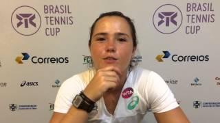 Gabriela Cé estreia nesta terça-feira no Brasil Tennis Cup