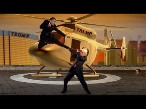 slatester - In the latest episode of our Political Kombat '12, we pit the president against one of his most relentless antagonists, Donald Trump. Created by Taige Jensen...