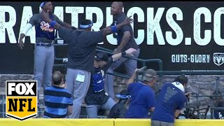 Dodgers Celebrate in D-Backs Pool After Clinching NL West