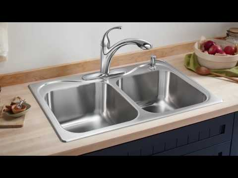 Middleton Top-Mount Double-Bowl Kitchen Sink, 33\