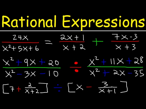 Rational Expressions , Adding, Subtracting, Multiplying, Dividing, Simplifying Complex Fractions