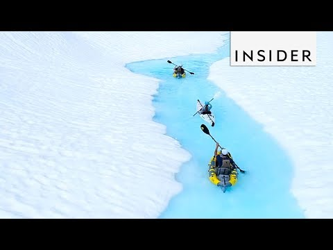 Kayaking Down Remote Untouched Glaciers