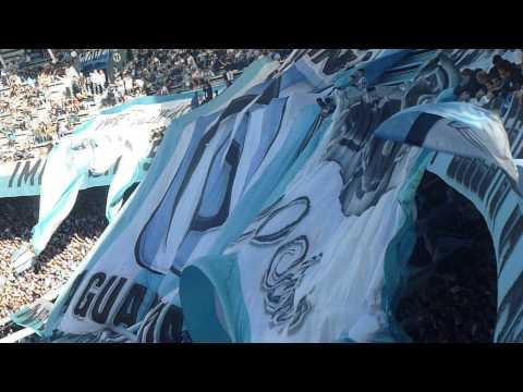 Racing-Belgrano 13/14 banderas de la Guardia imperial ultras Racing - La Guardia Imperial - Racing Club