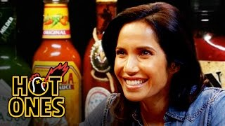 Padma Lakshmi Gracefully Destroys Spicy Wings | Hot Ones full download video download mp3 download music download