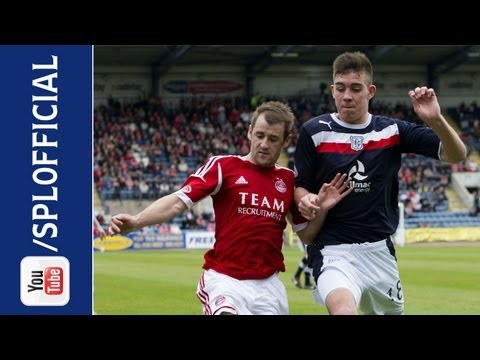 dundee - Dundee were relegated from the SPL after being held to a 1-1 draw by 10-man Aberdeen at Dens Park. Jim McAlister's excellent opener gave John Brown's men the...