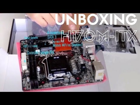 UNBOXING Motherboard Asrock H170M ITX/AC + Intel I5 7600 Kaby Lake + Kingston HYPER X FURY DDR4