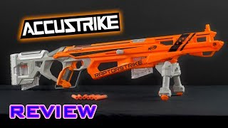 Buy on Amazon: http://amzn.to/2tdtj5ABuy at ToysRUs: http://www.toysrus.com/product/index.jsp?productId=117301866&cp=&parentPage=searchVideo review of the Nerf Accustrike Raptorstrike!- - - - - - - - - - - - - - - - - - - - - - - - - - - - - -