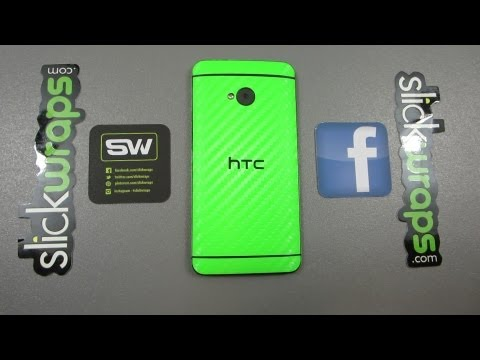one for one - Check out their awesome selection for the HTC One! http://www.slickwraps.com/HTC-One-Wraps-Skins-s/562.htm Green one in video: http://goo.gl/P84Xp Black one ...