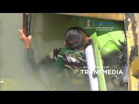 Evakuasi Sopir Truk Korban Ambruknya Jembatan Babat-Widang