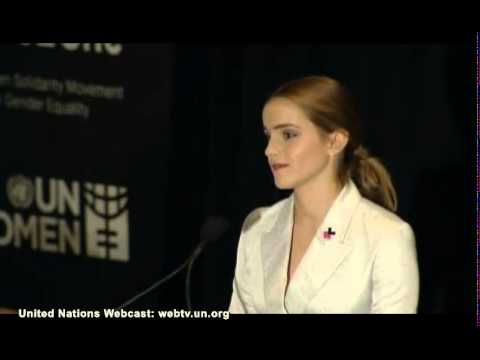 here - Emma Watson's moving speech about gender equality and the he for she campaign To join heforshe: http://www.heforshe.org/