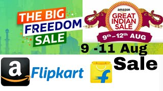 Flipkart The Big Freedom Sale From 9 - 11 th Aug is a great Change for you guys to get great discounts on electonics , smartphones , fashion and lifestyle , Led Tv and lots of more  products. HDFC Card holder will get instant 10% discount. Sale starts 9 Aug and will run 72 hours till 11 aug mid night.Also on amazon great indian sale is running from 9 aug to 12 aug  there you will get upto 15 % instant discount  on making payment through sbi card using amazon app.Here is few important links provided Install Flipkart in mobile to get latest deals and discountshttp://fkrt.it/a0rkWTuuuNBuy Redmi note 4 only on flipkart big freedom salehttp://fkrt.it/OBoaU!NNNNTop Offers on flipkart freedom salehttp://fkrt.it/ZCUNpTuuuNMobile Phones on flipkart salehttp://fkrt.it/i!1lL!NNNNTv And Home applianceshttp://fkrt.it/iaXE8!NNNNElectronic item offershttp://fkrt.it/iaivR!NNNNFashion and clothinghttp://fkrt.it/iTjUz!NNNNHome and Furniturehttp://fkrt.it/iIUs5!NNNN-----------------------------Also CheckThe Great Indian Amazon Sale From 9 aug to 12 aughttp://amzn.to/2vMwNRoMobile phone offers in great indian amazon salehttp://amzn.to/2vjCEuv-------------------------------------------------Subscribe Tech indian for watching latest videos and offers in futurehttps://www.youtube.com/channel/UCrBPaqNc8SP3K0Q_LFJlhIg?sub_confirmation=1Please Read terms and conditions on respective website carefully to avail any discounts and offers