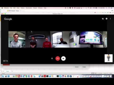A V.360 degree Google Hangout