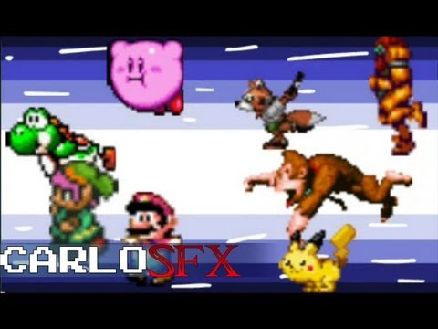Super Smash Bros 64 Intro : RETRO Version Snes