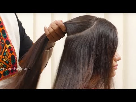 Hairstyles for long hair - Best Wedding Hairstyle For Long Hair  Simple Quick Hairstyle for Party/Function