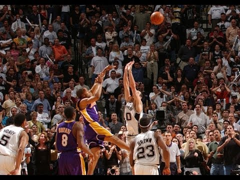 10 years anniversary - We take a look back to the insane buzzer beater from the 2004 Western Conference Semifinals between the Los Angeles Lakers and San Antonio Spurs. In Game 5, ...