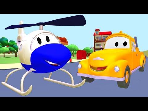 Tom la Grúa y el Helicóptero en Auto City | Autos y camiones dibujos animados para niños 🚚🚁