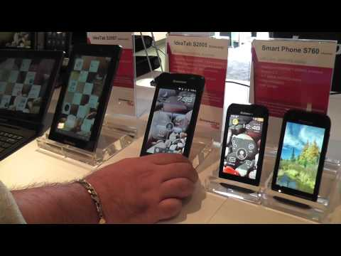 Hands on with New Lenovo Tablets at CES2012