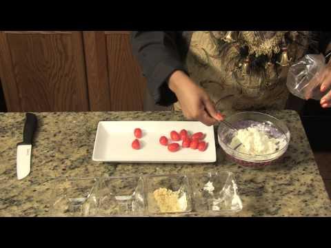 Roasted Garlic & Cream Cheese-Stuffed Cherry Tomatoes : Cream Cheese Snacks