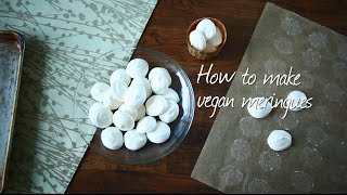 How to make vegan meringues video
