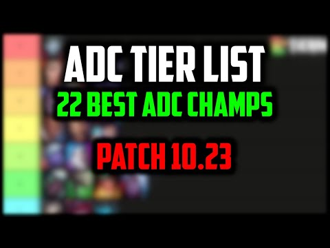 Best ADCs for Carrying RANKED SOLO QUEUE   ADC Tier List 10.23 Pre-Season 11