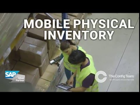 SAP mobile app: Mobile Physical Inventory