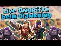 LIVE ANGRIFFE BEIM CLANKRIEG /// Let's Play /// Clash of Clans deutsch