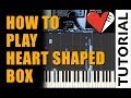 Nirvana - Heart Shaped Box Piano Tutorial (How To Play on Synthesia) + Sheet Music