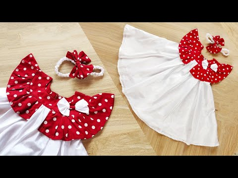 DIY : Baby Frock Cutting and Stitching /3 year baby / new year party dress cutting and stitching