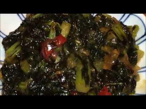 「大根葉」の油味噌作り方