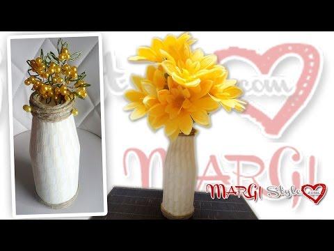 fai da te - come creare un vaso con le calze di nylon