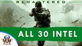 Call of Duty 4 Modern Warfare Remastered - All 30 Intel Locations (Eyes and Ears) - Activates Cheats