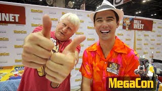 "Orlando Mega Con in Florida was full of celebrities like Charles Martinet the voice actor behind Nintendo's Mario, Wario, Luigi and even Donkey Kong, Spencer Wilding ""Darth Vader"", Christopher Daniel Barnes the voice of Walt Disney The Little Mermaid Prince Eric, Jeremy Palko from The Walking Dead."