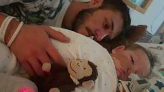 """Charlie Gard's parents have ended their legal fight over treatment for their terminally-ill baby son. In an emotional statement outside the High Court, his father Chris Gard said: """"We are so sorry that we couldn't save you."""". Report by Charlotte Brehaut."""