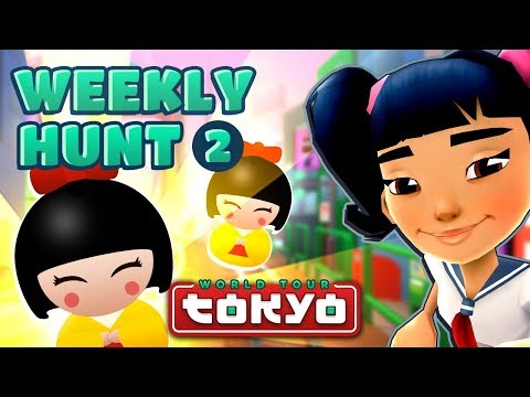 Subway Surfers Weekly Hunt - Collecting Hunt Tokens in Tokyo (Week 2) (видео)