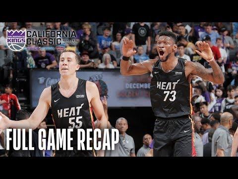 Video: HEAT vs KINGS   Miami Comes All The Way Back!   California Classic