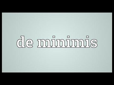 De minimis Meaning