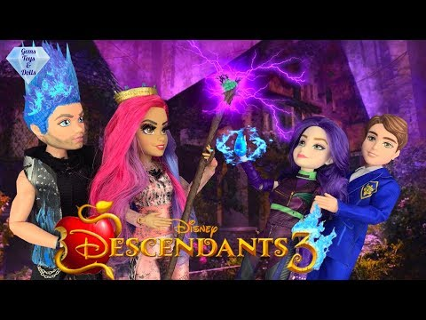 Audrey Fights Dragon Mal! Queen of Mean Takes Mal's Magic Disney Descendants 3 Doll Story Episode 5
