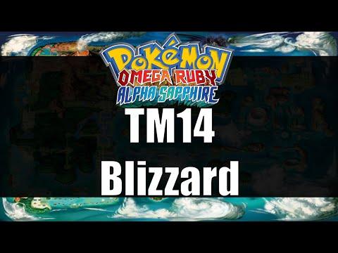 Pokemon Omega Ruby & Alpha Sapphire - Where to get TM14 Blizzard
